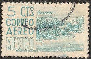 MEXICO C208, 5¢ 1950 Definitive 2nd Printing wmk 300 HORIZ. USED. F-VF. (903)