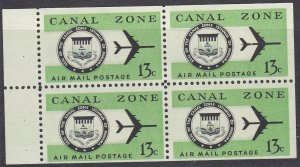Canal Zone Sc #C50a MNH Booklet pane of 4