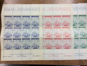 {BJ STAMPS} 9th ASDA National Show  Poster Stamps  NY 1957 LABELS Fullsheets!