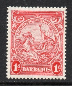Barbados 1938 KGVI 1d scarlet perf 14 SG 249a mint