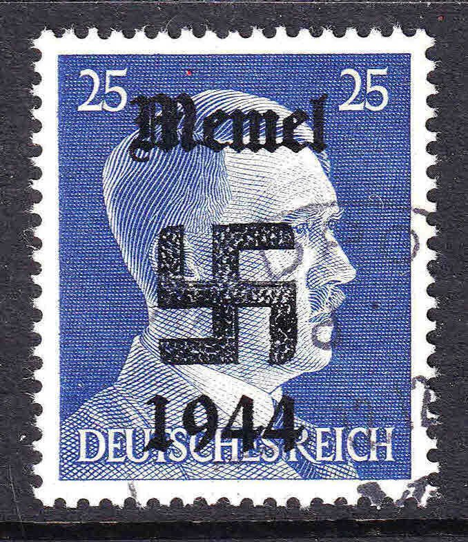 GERMANY 518 MEMEL 1944 OVERPRINT FELDPOST CDS VF SOUND