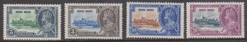 Hong Kong - 1935 Jubilee Unused No Gum Sc. #147-150
