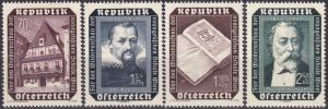 Austria #B281-4 MNH CV $4.55  (A18549)