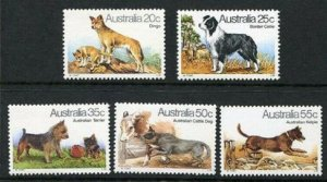 1980   AUSTRALIA  -  SG: 729/33  -  DOGS - UNMOUNTED MINT