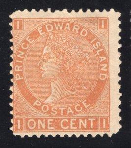 Prince Edward Island #11b - 1 Cent, Brown Orange - Perf. 12 1/2 - Unused - O.G.