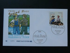 children tales fiction character Tom Sawyer FDC 2001 Germany 84225