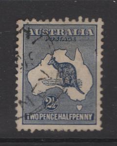 Australia 1913 Stamps 2½d Kangaroo  & Map Scott 4 F