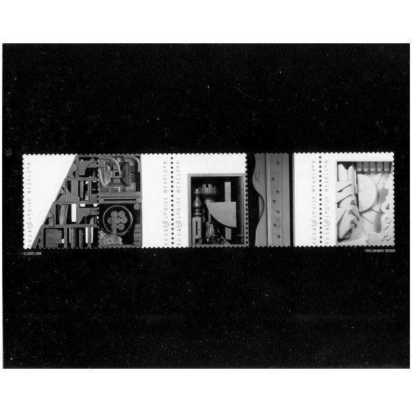 US #3379-83 Sculptor Louise Nevelson Strip Photo of Essay