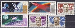 Russia #3316-8, 3324-6  MNH CV $4.50  (Z7876)