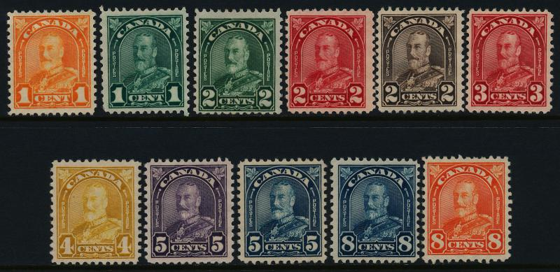 Canada 162-72 MH King George V