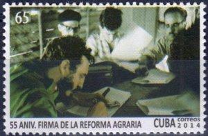 CUBA Sc# 5514  AGRARIAN REFORM Fidel Castro  2014  MNH mint