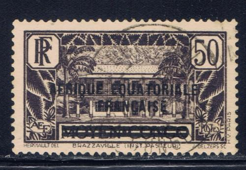 French Equatorial Africa 20 Used 1936 Overprint