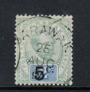 Sarawak #24 Extra Fine Used Gem With Ideal Sarawak Aug 25 1892 CDS Cancel