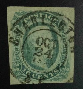 MOMEN: US STAMPS CSA #12 IMPERF USED LOT #53044