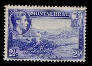MONTSERRAT GVI SG105, 2½d ultramarine, M MINT.