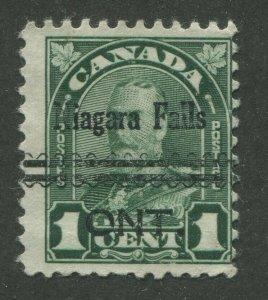 CANADA PRECANCEL NIAGARA FALLS 1-163
