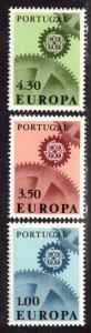 $Portugal Sc#994-996 M/NH, complete set, Cv. $13.50