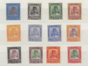 Malaya Trengganu Collection Of 12 Values SG23/41 J7133