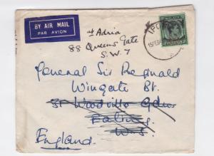 british general sir francis reginald wingate malaya stamps cover ref r15933