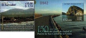 EL SALVADOR PUERTO de SAN CARLOS de la UNION Sc 1619-1620 MNH 2005