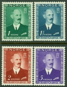EDW1949SELL : NORWAY 1946 Scott #275-79 Very Fine, Mint Never Hinged. Cat $120.