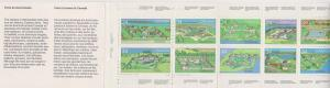 Canada - 1985 34c Fort (#1059a) Complete Booklet #BK87