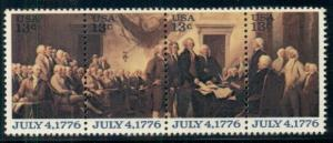 #1691-4 13¢ DEC. OF INDEPENDENCE LOT OF 100 MINT STAMPS, SPICE UP YOUR MAILINGS!