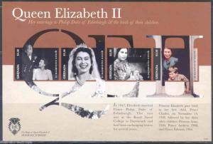 GRENADA QUEEN ELIZABETH II DIAMOND JUBILEE IMPERFORATED SHEET NH