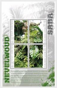 Stamps 2018 Caribbean Netherlands - Mist Forest - (Saba) - Miniature Sheet.
