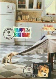 HNLP Hideaki Nakano Greeting Card Spay Neuter 3671 Dog Happy Birthday Smash