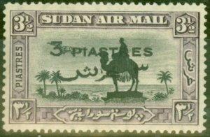 Sudan 1938 3p on 3 1/2p Black & Violet SG75 Fine Lightly Mtd Mint