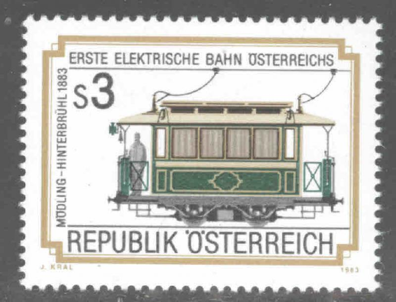 Austria Osterreich Scott 1258 MNH** 1983  railway car stamp