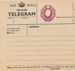 GB SUPERB KGV 6d Telegram 1935 Unused Postal Stationery {samwells-covers} AC389