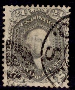 US Stamp #70 24s Red Lilac Washington USED SCV $300