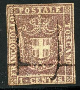 ITALY STATE TUSCANY SCOTT#17 SAS# 17 CUT CLOSE USED AS SHOWN