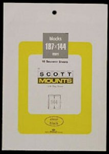 Scott/Prinz Pre-Cut Souvenir Sheets Small Panes Stamp Mounts 187x144 #963 Clear