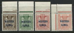 Samoa 1935 overprinted Western Samoa 2/6d to £1 mint o.g.