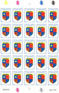 New Caledonia 1988 GOLF/Arms of Dumbea Shlt (25) Imperforated MNH VF