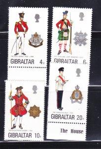 Gibraltar 318-321 Set MNH Military Uniforms (B)