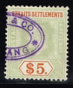 Straits Settlement SG# 138a, Used.      Lot 03292015