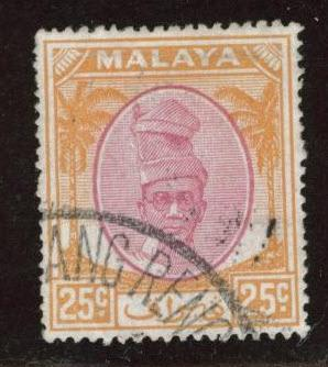 MALAYA Perak Scott 114 used stamp from 1950