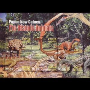 PAPUA NEW GUINEA 2004 - Scott# 1111 S/S Dinosaurs NH