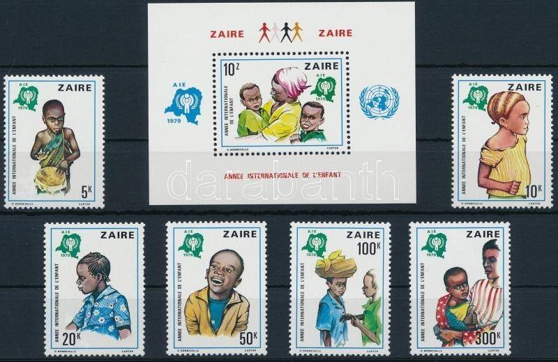 Congo (Kinshasa) stamp International Children's Year set + block MNH WS220986