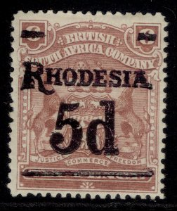 RHODESIA EDVII SG114b, 5d on 6d reddish mauve, M MINT. Cat £17.