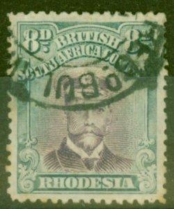 Rhodesia 1919 8d Mauve & Dull Blue-Green SG268 Die III P.14 Good Used
