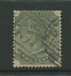 Mauritius #70 FU 1885  Single 2c Stamp