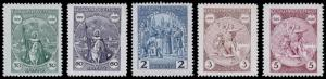 Czechoslovakia Scott 159-163 (1929) Mint H F-VF Complete Set, CV $12.30 B