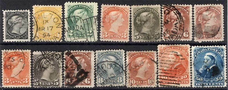 CANADA Sc 37 - 47 Used Small Queens Set