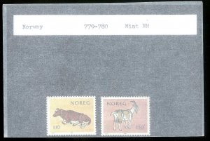 NORWAY Sc#779-780 MINT NEVER HINGED Complete Set