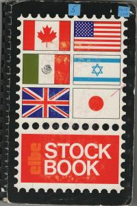 U.S. stamp stock book with stamps